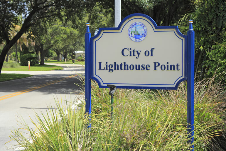 City Of Lighthouse Point Florida Sign Matt Smith